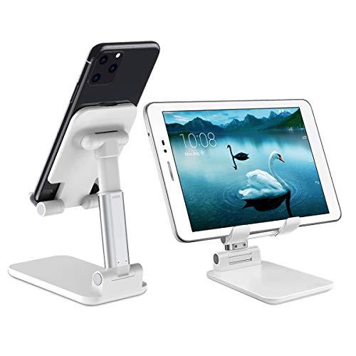 Agokud Handyständer Höhenwinkel Faltbarer,Handy/Tablet Ständer, Skalierbarkeit Desktop-Handyhalterfür Samsung, iPhone, Huawei, iPad und mehr