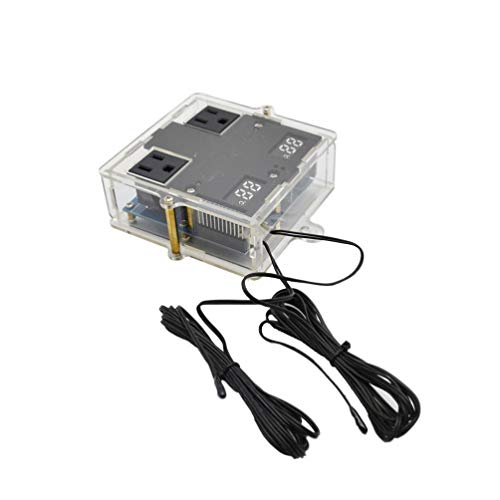 UKCOCO 1 STÜCK Temperaturregler 110 V-240 V Elektronische LED Temperaturregler mit Sonde für Turtle Box Aquarium