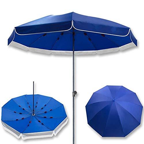 ZGYQGOO Garden Parasol Sun Umbrella Patio Assez Robuste Parapluie Table marché, Backyard Oasis Parasol Patio avec os Parapluie renforcé à Trois Couches (Bleu 8.5ft)