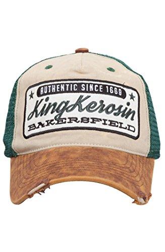 King Kerosin Herren Trucker Cap Used Look Casual Vintage Bakersfield