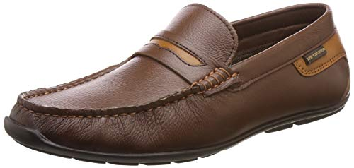 3. Lee Cooper Men's Brown Leather Loafers