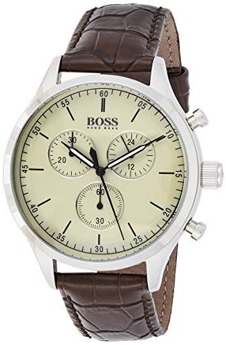Hugo BOSS Reloj Cronógrafo para Hombre de Cuarzo con Correa en Cuero 1513544