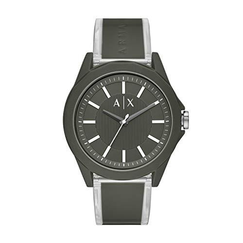 Relógio masculino Armani Exchange com três ponteiros de nylon verde AX2638