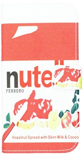 Jujeo Umständen Nutella Haselnuss Aufstrich Muster Magnetische Flip Leder Cover Ständer für HTC One M8–Verpackung–Multi Farbe