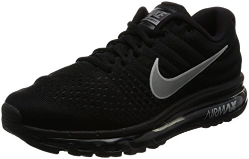 Nike Mens Air Max 2017 Running Shoes Black/White/Anthracite 849559-001 Size 11.5