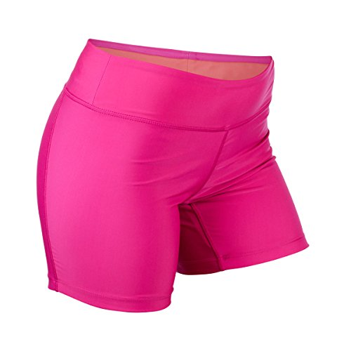 UV SKINZ UPF50+ Womens Active Swim Shorts-Hot Pink-L