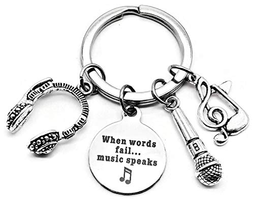 Microphone Keychian, Music Keychain, Singer Keychain, Musical Note, Musical Instrument Keychain, Headphone Keychain, Microphone Key Ring, Music Key Ring, Music Microphone Voice Charm Keychain