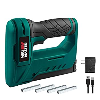 NEU MASTER Staple Gun Cordless NTC0070 Li-ion Rechargeable Battery Staple Guns kit with Staples and USB Charger Power Tacker for Upholstery Material Repair Decoration Carpentry Furniture DIY