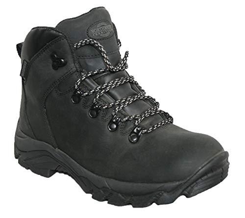 Peak Up Damen Stiefel aus hochwertigem Leder, wasserfest, zum Wandern / Wandern, - Schwarz Hi Top - Größe: 39 EU
