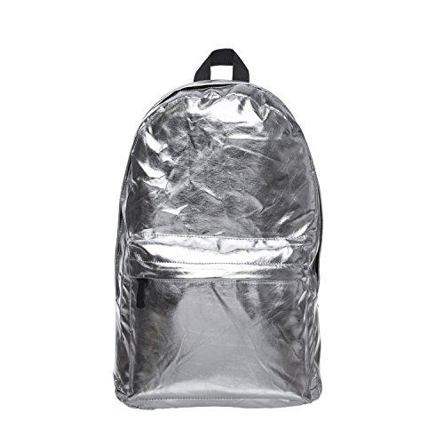 Damen Mädchen Hologramm Rucksack Gym Reise Schulrucksack Hologramm Gepäck Mode Tasche College Gr. One size, silber