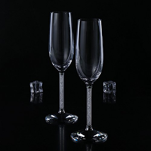 JARONG Vin Rouge Champagne Cristal sans Plomb Tasse Tasse Tasse Pied Haut Don