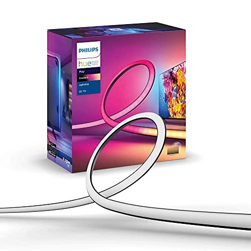 """Philips Hue Play Gradient Lightstrip Striscia Led Smart 16 Milioni di Colori, 55"""", Illuminazione Sorround Sincronizzata con Colori TV"""