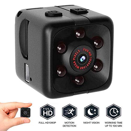 QIjinlook Mini Kamera Classic, Full HD 1080p Camcorder, Sport Mini DV Video Recorder, Spion Kameras, Überwachungskamera, Camcorder, HD Sports Micro Camera (Schwarz)