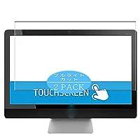 2枚 VacFun ブルーライトカット フィルム , HP ENVY Touch 27-k000 All-in-One AIO / k009 / k001a / k001er 27インチ 向けの ブルーライトカットフィルム 保護フィルム 液晶保護フィルム(非 ガラスフィルム 強化ガラス ガラス )