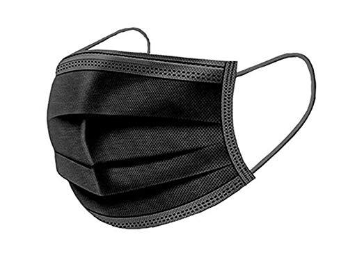 Lot de 50 Filtre Bactérien Masques Jetables Anti-poussière Masque Visage Noir de EAGLESTIME