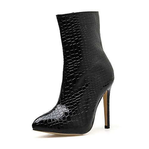 Kempp Damenmode Schuhe Stiefeletten Sexy Stiletto Damen Stiefeletten Europäische Und Amerikanische Krokodilleder Stiefel Für Herbst Und Winter