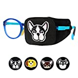 Astropic 1Pc Cotton and Silk Eye Patch for Kids Girls Boys Eye Patch for Glasses Medical Eye Patch for Children with Lazy Eye Amblyopia Strabismus and After Surgery (Left Eye, Bulldog)