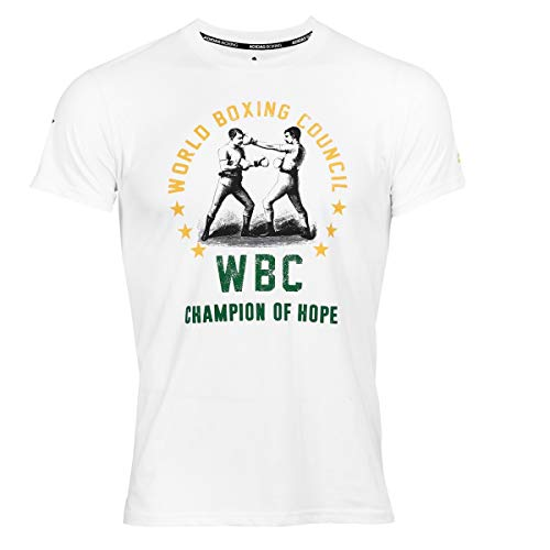 adidas Boxing T-Shirt Men Women Top Gym Training Fitness Workout WBC tee Camiseta de Boxeo para Hombre y Mujer, Blanco, XL