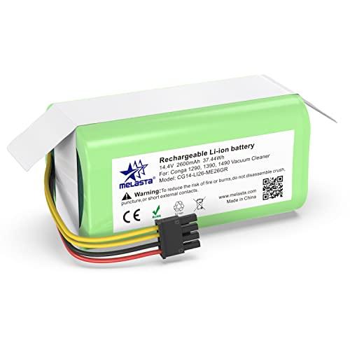 melasta Batería Li-Ion 14.4V 2600mAh para Aspiradora Cecotec Conga 1290, 1390, 1490, 1590
