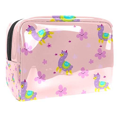Tragbare Make-up-Tasche mit Reißverschluss, Reise-Kulturbeutel für Frauen, praktische Aufbewahrung, Kosmetiktasche, Schaf, fliegender Teppich
