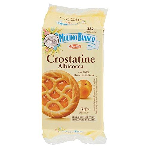 Mulino Bianco Crostatine con Confettura di Albicocca - Colazione e Snack Dolce per Merenda, 10 Crostatine