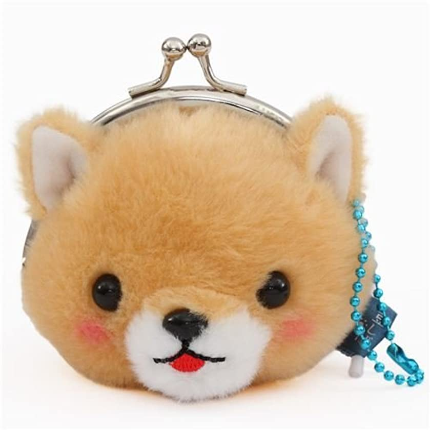 Petit Coin, Light Brown Dog Plush Coin Purse, with Chain