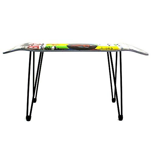 (スケートスツール)SKATE STOOL スケートボード チェア イス テーブル (Black) (44cm)