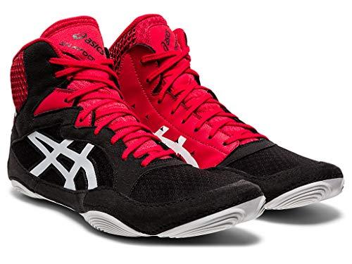 ASICS Men's Snapdown 3 Wrestling Shoes, 11, Black/White