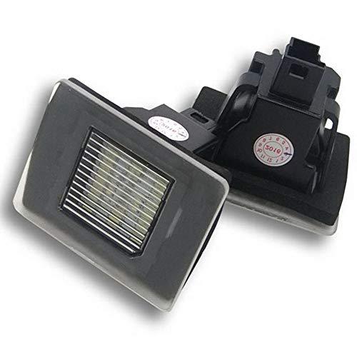 Boomboost 2pcs Remplacement LED Lumière De Plaque D'immatriculation pour Benz W117 W218 W176 W156 W166 R172 X166 Enregistrée Lampe De Plaque d'immatriculation
