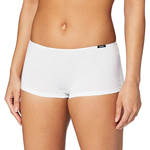 Skiny Damen Essentials Low Cut Pant Triangel Panties, Weiß, 38