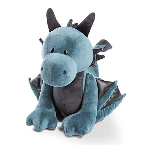 NICI- Peluche de pie dragón Ivar 45cm, Color Azul, 45 cm (46717)