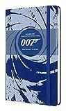 Moleskine, Cuaderno James Bond, Edición Limitada, Hojas de Rayas, Tapa Dura con Gráficos sobre 007, Tamaño Grande 13 x 21 cm, Color Azul, 240 Páginas