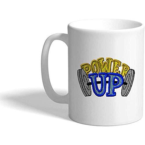 Taza de café personalizada 330 ml Levantamiento de pesas Enciende un diseño de taza de té de cerámica deportiva