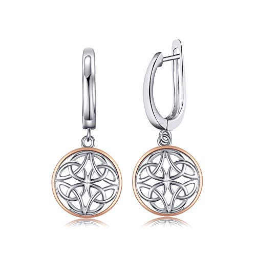 JewelryPalace Hollow Celtic Knots Drop Earrings 925 Sterling Silver Women