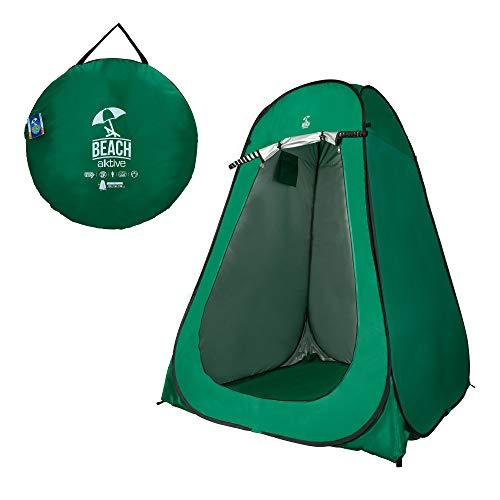 Aktive 62182 - Tienda de campaña cambiador con suelo 150x150x190 cm Verde