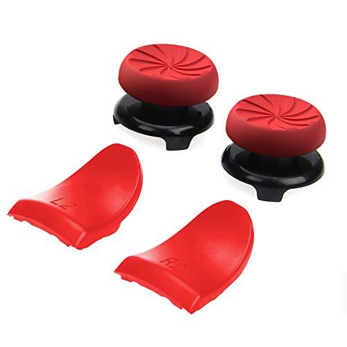 Joystick Thumbstick Caps - Accesorios de controlador de juego, Accesorios Esenciales para el Juego mando PS4, Red