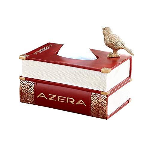TAIDENG Caja de pañuelos moderna con personalidad creativa malista para el hogar, sala de estar, sala de estar, sala de estar, con caja de pañuelos Hyend (color: rojo)