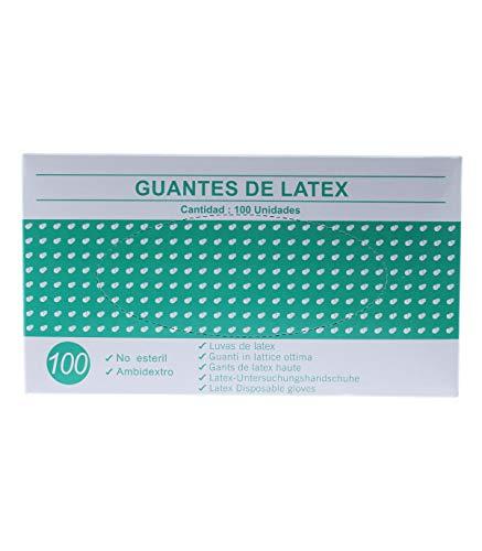 Guantes de latex caja de 100U (Pequeño) Blanco o...