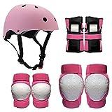 Nologo Protección Equipo de Protección Gear Set Rodilla Cojines de Codo muñequeras Casco Multi Pads protección de la Seguridad de los Deportes for Adolescentes Vespa Patinaje