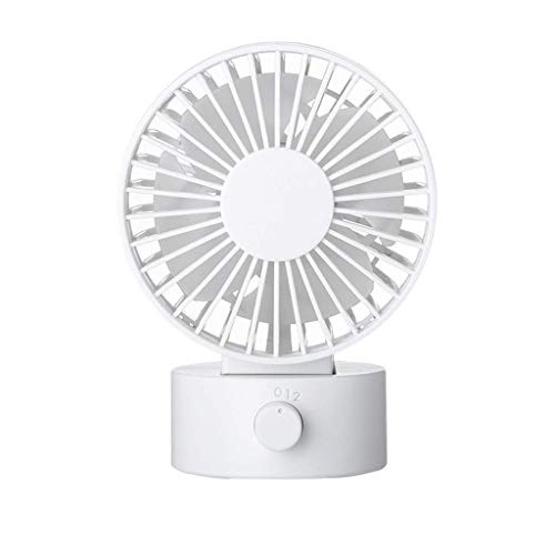 USB-ventilator, bureau ventilator New geruisloze ventilator met verstelbare kop Dual Fan Blades, 2 snelheden, Mini Size Desktop ventilator for thuiskantoor Outdoor Travel (wit) ZHW345