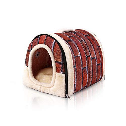 PETCUTE Casa Cama para Perros Casa para Mascotas Caseta para