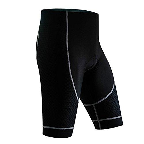 Short de Cyclisme Homme Cuissard de Compression Gel 3D rembourré Pantalon de Cyclistes Bike Sport Shorts pour Jogging VTT Randonnée Mountain L