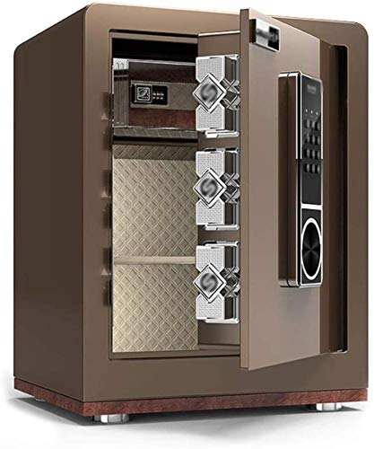 Safes Safe Box voor veiligheid kabinet, alle staal elektronisch wachtwoord Anti-diefstal in de muur grote opbergruimte lade opslag Safe Box 38x32x45cm Safebox Coffee Gold