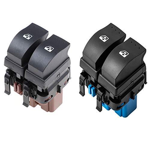 YJDTYM Interruptor de Control de Ventana eléctrica Interruptor de Levantamiento/Ajuste para Renault Megane II 2002-2014 Laguna MK2 2001-2007 8200315040 8200107772 (Color : Red)