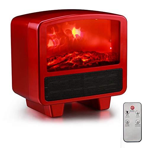 ZCY Chimeneas Eléctricas Portatil Calefactor Eléctrico Bajo Consumo,con Sistema Antivuelco/Sensor Seguridad Sobrecalentamiento/Temporizador...