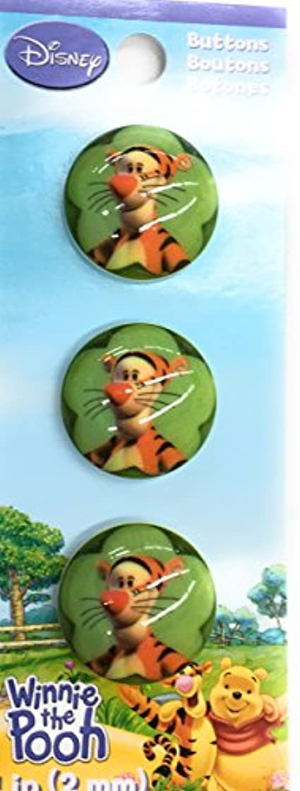 Katz Trimming /Trims Unlimited Disney Tiger Buttons, 1-inch, 3-pack Wrights 881-616