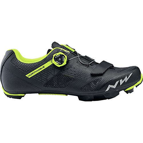 Northwave Razer Mountain Bike Shoe - Men's Black/Yellow Fluo, 43.0