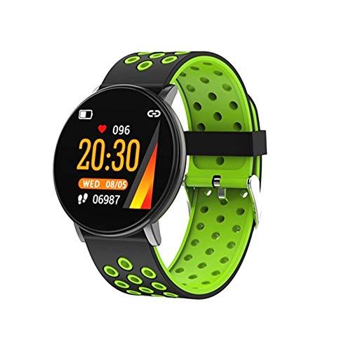 ZRY W8 Smart Watch, Reloj Inteligente A Prueba De Agua Redondo Y Fitness Fitness Tracker Smart Reloj Monitor De Presión Arterial De Ritmo Cardíaco para Android iOS,A