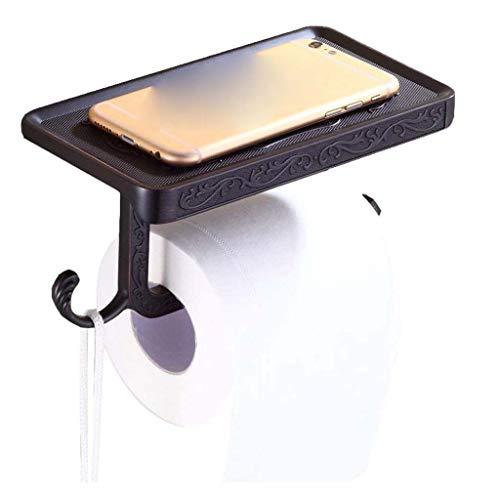 JJZXD Papel higiénico Titular, actualizado sostenedor de Papel higiénico con el Estante del teléfono, Auto-Adhesivo del Papel higiénico del Titular, de Montaje en Pared