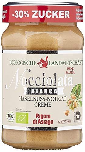 Rigoni di Asiago Nocciolata - Bianca - weiße Schokolade - Haselnusscreme - Das Original aus Italien - Cremig-leichter Bio-Brotaufstrich, 1er Pack (1 x 270 g), 6064